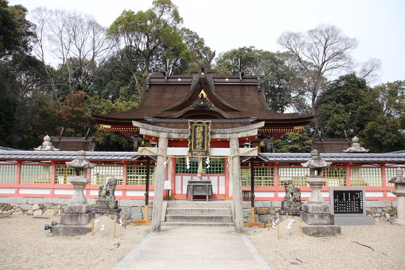 錦織神社 錦織造りの本殿が美しすぎる神社【御朱印】